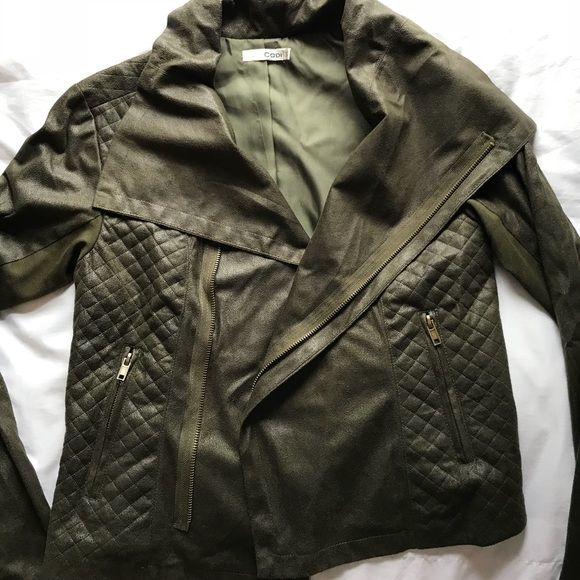 Jackets & Blazers - Size small, green suede army jacket